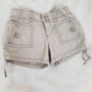 SO girls khaki tan shorts size 8